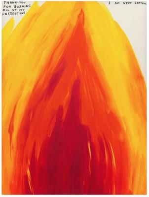 Lot 3 - David Shrigley (British 1968-), Thank You For Burning, 2019