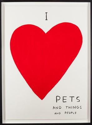 Lot 4 - David Shrigley (British 1968-), I Love Pets, 2019