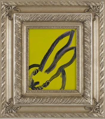 Lot 5 - Hunt Slonem (American 1951-), Untitled (Yellow-Green Rabbit), 2018