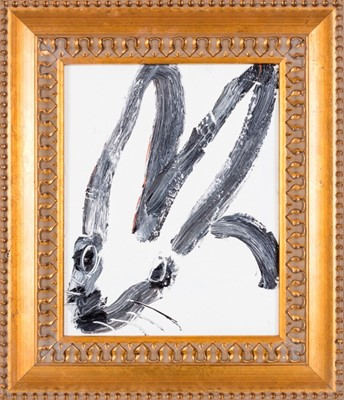 Lot 6 - Hunt Slonem (American 1951-), Untitled (White Rabbit), 2017