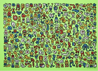 Lot 8 - Mr Doodle (British 1994-), Alien Town, 2020