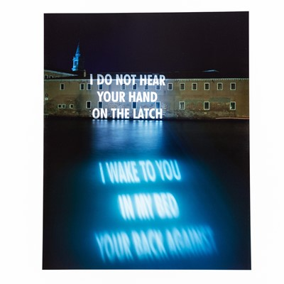 Lot 14 - Jenny Holzer (American 1950-Jenny Holzer (American 1950-), I Do Not Hear Your Hand, 2001