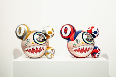 Lot 32 - Takashi Murakami (Japanese 1962-), Mr. DOB Figure By BAIT x SWITCH Collectibles - Original and Gold editions, 2016