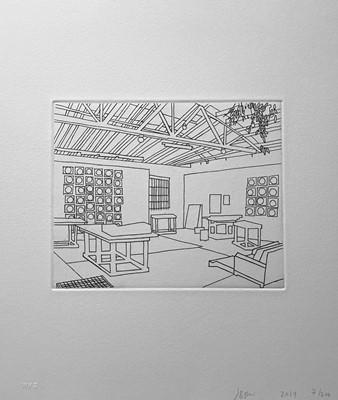 Lot 39 - Jonas Wood (American 1977-), Bball Studio, 2019