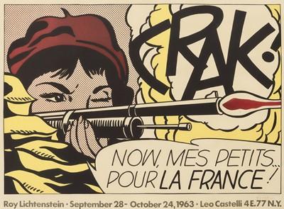 Lot 160 - Roy Lichtenstein (American 1923-1997), 'Crak!', 1964