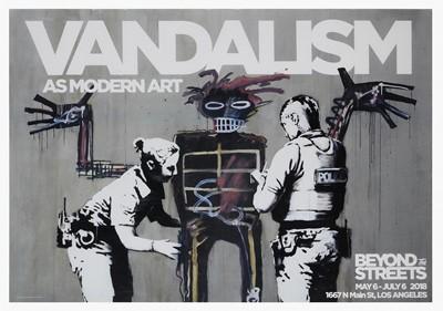 Lot 71a - Banksy (British 1974-), 'Vandalism As Modern Art', 2018