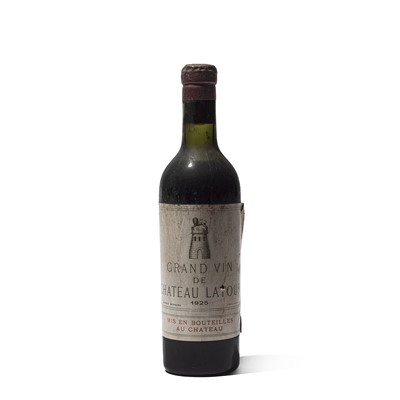 Lot 33 - 1 half-bottle 1925 Ch Latour