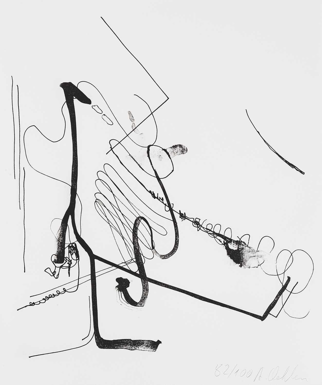 Lot 4 - Albert Oehlen (German 1954-), 'Meditation On Bureaucratic Tendencies At TZK', 2020