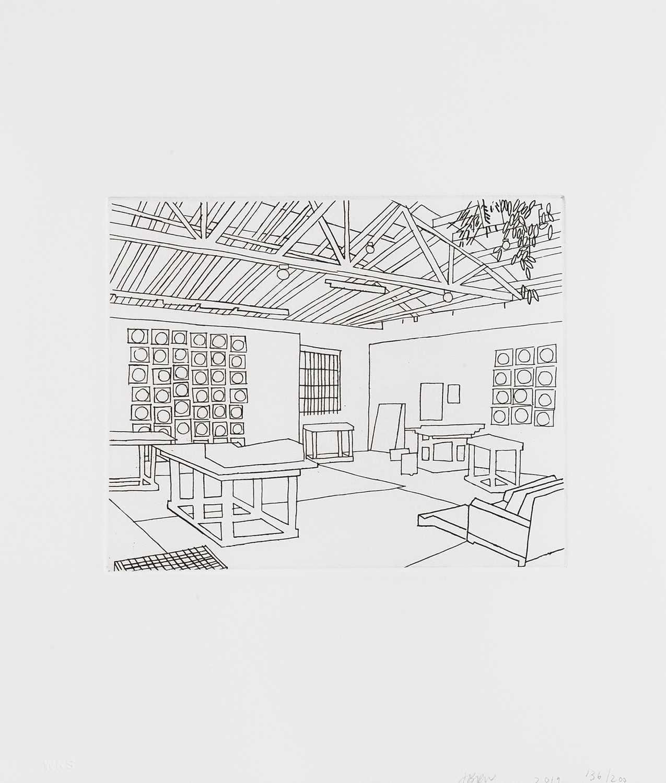Lot 36 - Jonas Wood (American 1977-), 'Bball Studio', 2019