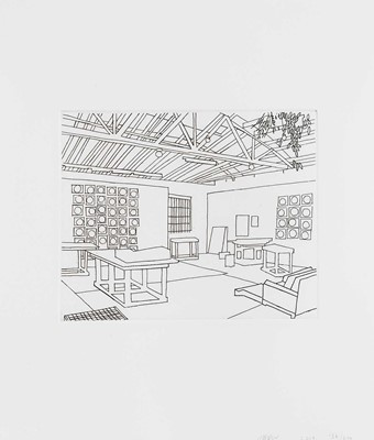 Lot 43 - Jonas Wood (American 1977-), 'Bball Studio', 2019