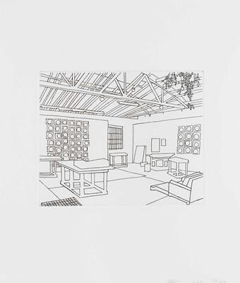 Lot 79 - Jonas Wood (American 1977-), 'Bball Studio', 2019