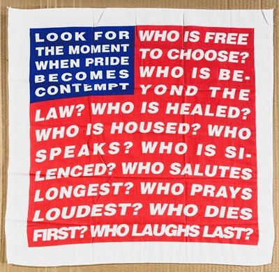 Lot 6 - Barbara Kruger (American 1945-), 'Untitled (Flag)', 2020