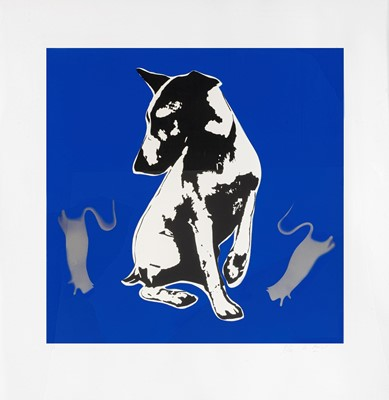 Lot 77 - Blek Le Rat (French 1951-), 'His Master's Voiceless', 2008
