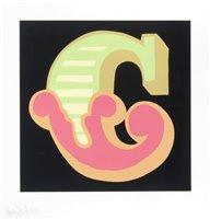 Lot 166 - Ben Eine (British b.1970), 'C (1, 2 & 3)', 2015