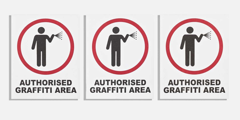Lot 60 - Banksy (British 1974-), 'Authorised Graffiti Area' (Three Works)