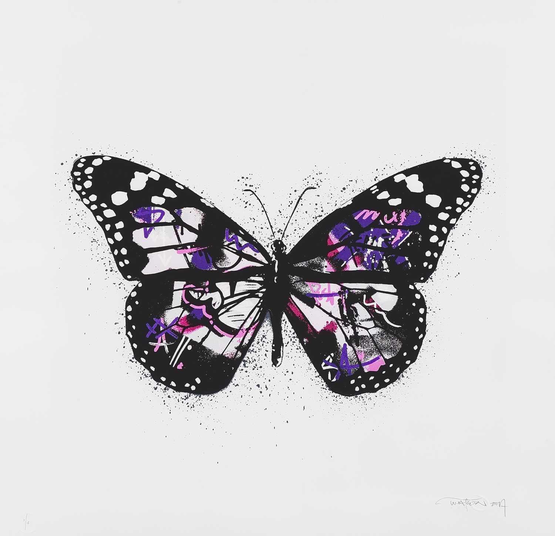 Lot 96 - Martin Whatson (Norwegian 1984-), 'Butterfly (White Pink)', 2017