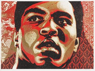 Lot 115 - Shepard Fairey (American 1970-), 'Muhammad Ali', 2006