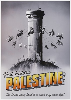 Lot 15 - Banksy (British 1974-), 'Visit Historic Palestine', 2018
