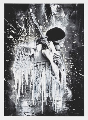 Lot 99 - Mr Brainwash (French 1966-), 'Jimi (White)', 2015