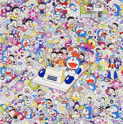 Lot 60 - Takashi Murakami (Japanese 1962-), 'On An Endless Journey On A Time Machine', 2018