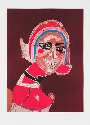 Lot 163 - Tschabalala Self (American 1990-), 'Choker', 2017