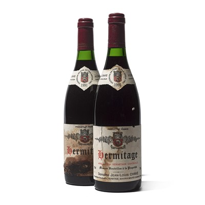 Lot 60 - 2 bottles 1991 Hermitage Chave