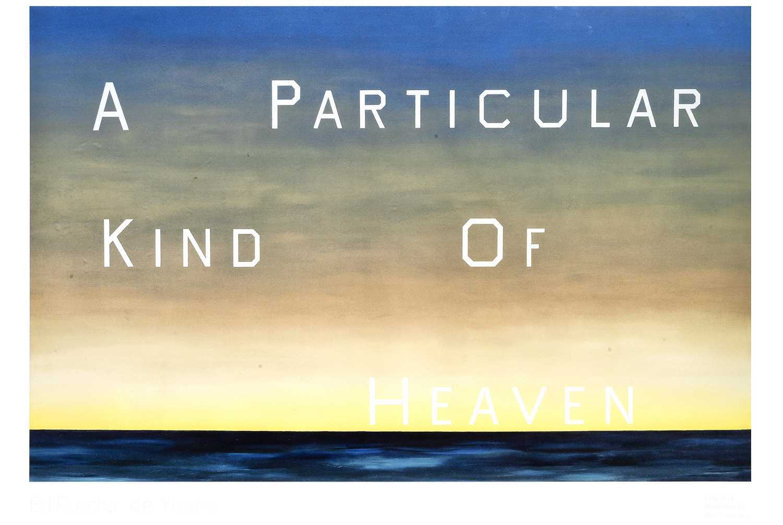 Lot 27 - Ed Ruscha (American 1937-), 'A Particular Kind Of Heaven', 1983