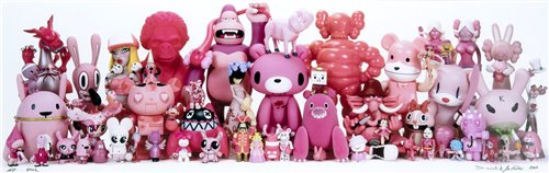 Lot 40 - Daniel & Geo Fuchs (German Couple), 'Kaws - Toy Giants Group Shot (Pink)', 2007