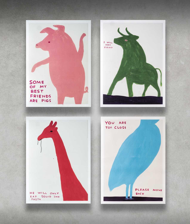 Lot 24 - David Shrigley (British 1968-), 'Animal Series', 2020