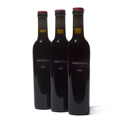 Lot 66 - 3 half-bottles 1978 Rivesaltes Domaine Puig-Parahy