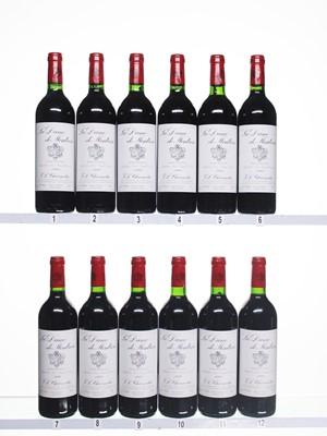 Lot 26 - 12 bottles 1999 La Dame de Montrose