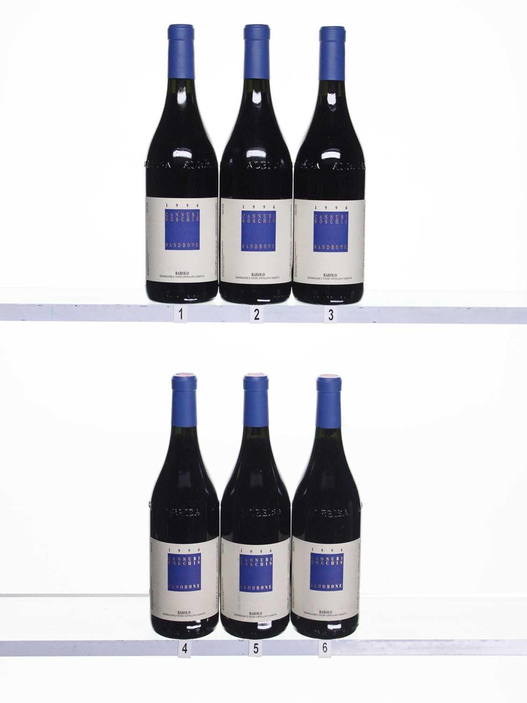 Lot 75 - 6 bottles 1996 Barolo Cannubi Sandrone