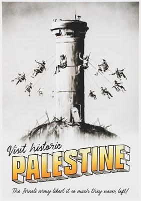 Lot 75 - Banksy (British 1974-), 'Visit Historic Palestine', 2018