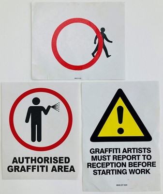 Lot 70a - Banksy (British 1974-), 'Paste-Up Stickers'