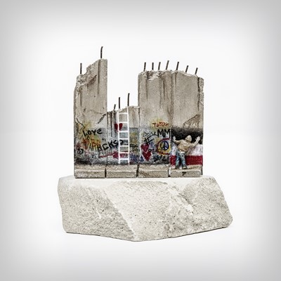 Lot 86 - Banksy (British 1974 -), 'Walled Off Hotel - Seven Part Souvenir Defeated Wall Section'