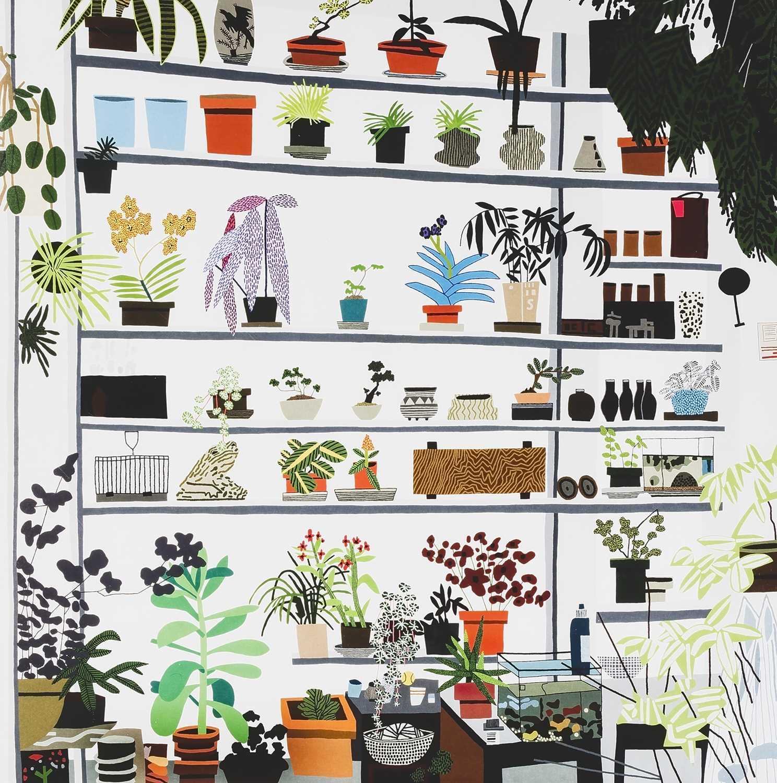 Lot 35 - Jonas Wood (American 1977-), 'Large Shelf Still Life Poster', 2017