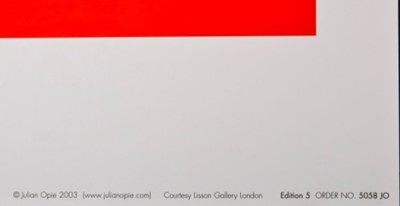 Lot 43 - Julian Opie (British 1958-)