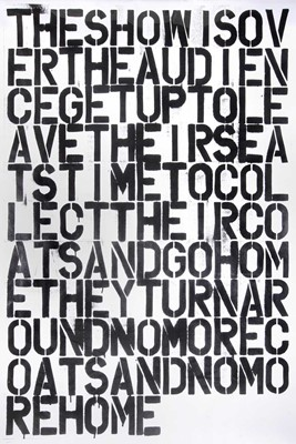 Lot 7 - Christopher Wool (After), 'The Show Is Over'
