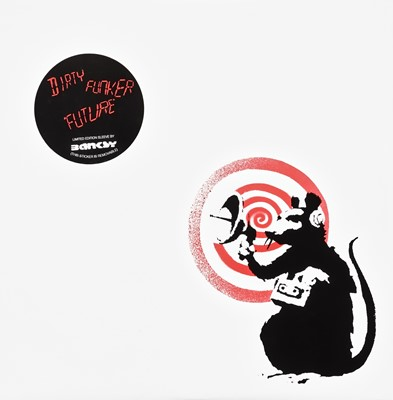 Lot 67 - Banksy (British 1974-), 'Radar Rat - Dirty Funker Vinyl (White)', 2008