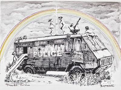 Lot 180 - Banksy (British 1974-), 'Police Riot Van (Dismaland Gift Print)', 2015