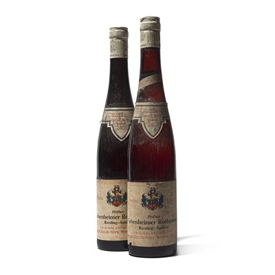 Lot 68 - 2 bottles 1945 Geisenheimer Rothenberg Riesling Auslese