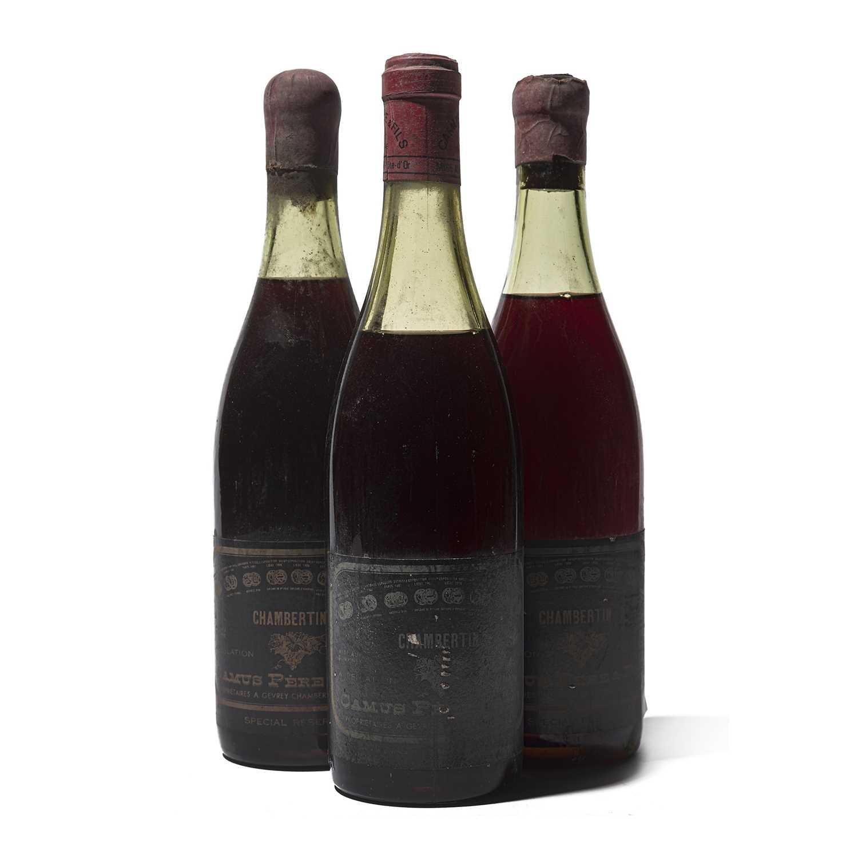 Lot 55 - 3 bottles Mixed Camus Chambertin