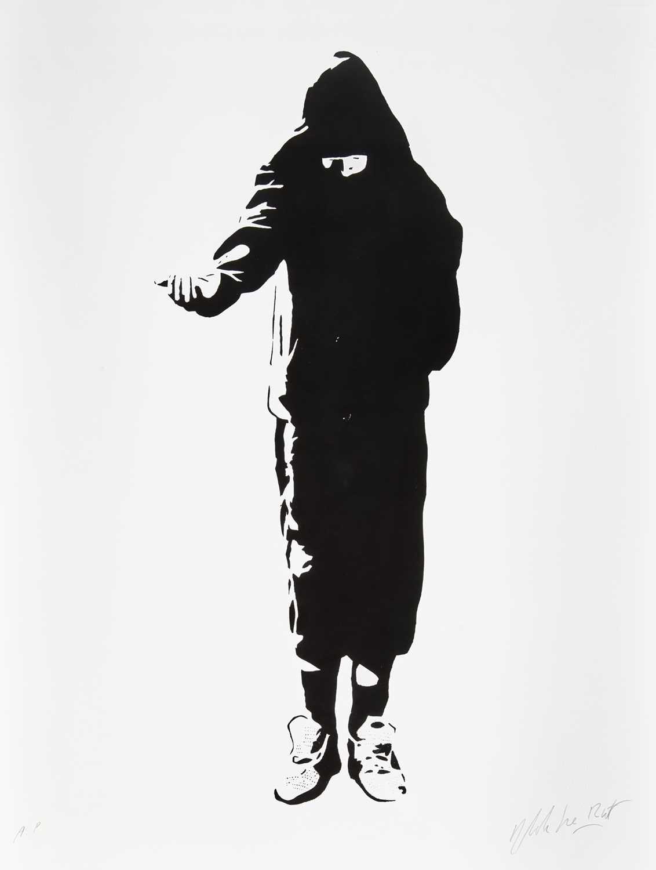 Lot 76 - Blek Le Rat (French 1951-), 'Beggar', 2006