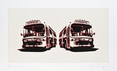 Lot 34 - Jamie Reid (British 1947-), 'Nowhere Buses', 2007