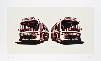 Lot 76 - Jamie Reid (British 1947-), 'Nowhere Buses', 2007