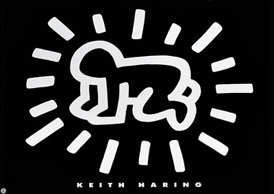 Lot 90 - Keith Haring (American 1958-1990), 'Radiant Baby', 1993