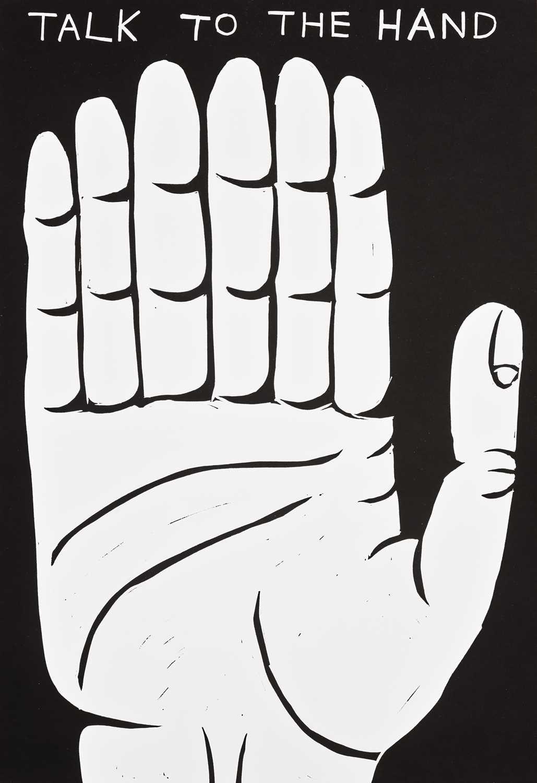 Lot 25 - David Shrigley (British 1968-), 'Talk To The Hand', 2021