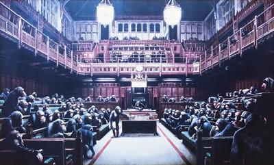 Lot 174 - Banksy (British 1974-), 'Monkey Parliament', 2009