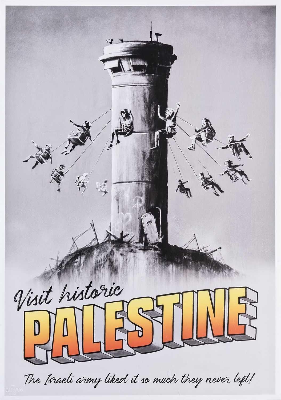 Lot 59 - Banksy (British 1974-), 'Visit Historic Palestine', 2018