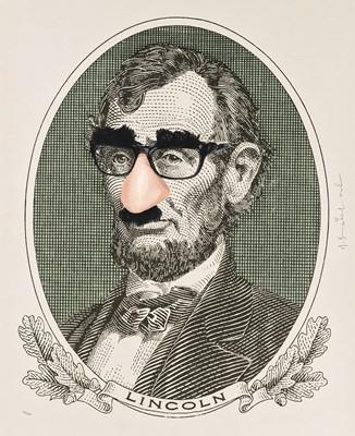 Lot 102 - Mr. Brainwash (French 1966-), 'Incognito (Lincoln)', 2019